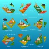 Mini Island Maps Stockfotografie