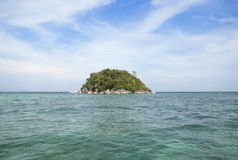 Mini Island. Small island standalone in the sea Stock Images