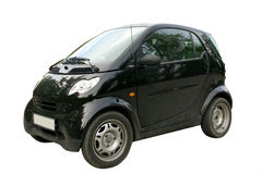Mini isolated black car smart fortwo Royalty Free Stock Images