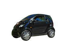 Mini isolated black car smart fortwo Royalty Free Stock Photography