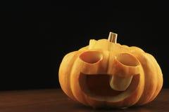 Mini Jack-o-Lanterne su un di legno Fotografia Stock