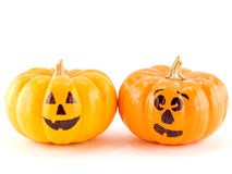 Mini Jack-o-Lanterns Isolated Stock Images