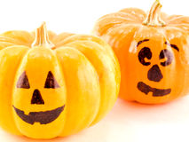 Mini Jack-o-Lanterns Isolated Stock Image