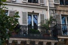 Mini jardín en balcón francés Fotografía de archivo