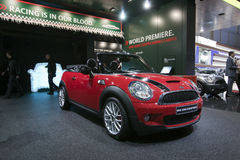 Mini John Cooper Works Cabrio - Geneva 2009 Royalty Free Stock Photography
