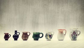 Mini jugs Royalty Free Stock Photos