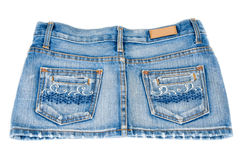 Mini jupe de jeans photo stock