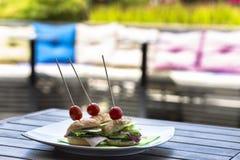 Mini kanapka set Zdjęcie Stock