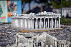 Mini- kopia för Parthenon arkivbild