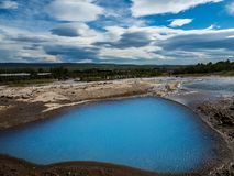 Mini laguna azul islandia foto de archivo