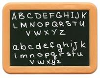 Mini lavagna del bambino - alfabeto Immagine Stock