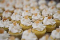 Mini Lemon Cupcakes com limão cristalizado Fotos de Stock