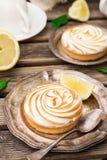 Mini lemon meringue pies Royalty Free Stock Image