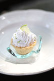 Mini lemon tarts on dish Close-up Royalty Free Stock Image