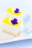 Mini lemon and vanilla cake Royalty Free Stock Photo