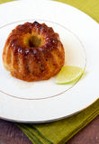 Mini lime bundt cake Stock Photography