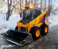 Mini Loader In Winter Stock Photography