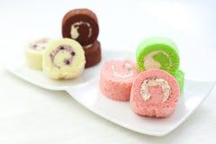 Mini Log Cakes Arkivbilder