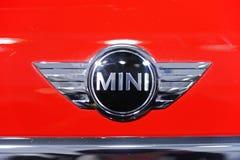 mini logo czerwień Obraz Stock