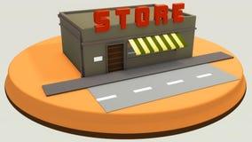 Mini loja Foto de Stock