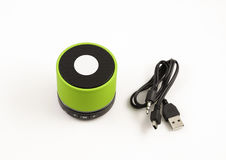 Mini loudspeaker gadget. Royalty Free Stock Photography