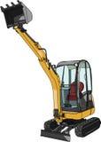 Mini máquina escavadora. Ilustração do vetor Fotografia de Stock