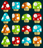 Mini magische Pilze Stockfotografie