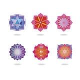 Mini mandalas ustawiający Obrazy Stock