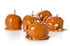 Mini manzanas de caramelo Foto de archivo