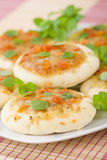 Mini Margherita Pizzas Royalty Free Stock Image