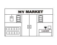 Mini Market Layout Design Vector illustrazione vettoriale