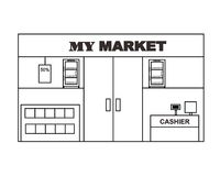 Mini Market Layout Design Vector vector illustration