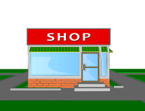 Mini market shop store retail shopping face Stock Photography