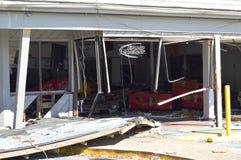 Mini-Markt zerstört durch Hurrikan stockfotografie