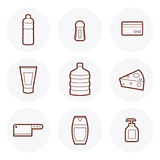 Mini-Markts-Ikone #4 Lizenzfreies Stockbild