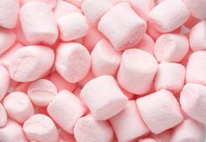 Free Mini Marshmallows Of Light Pink Colors. Selective Focus. Flat Lay Stock Image - 216345741