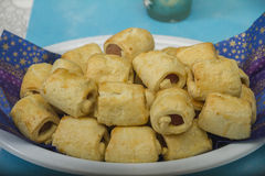 Mini meat mince rolls Stock Images