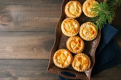 Mini meat pies from flaky dough Royalty Free Stock Image