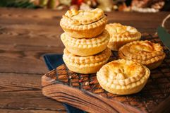 Mini meat pies from flaky dough Stock Image