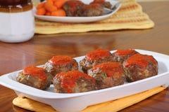 Mini Meatloafs royalty-vrije stock foto