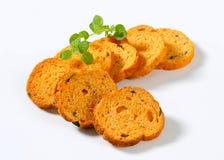 Mini Mediterranean Toasts Royalty Free Stock Image