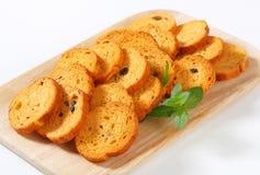 Mini Mediterranean Toasts Royalty Free Stock Images