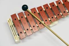 Mini metallophone para crianças imagens de stock