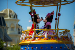 Mini and mickey parade Royalty Free Stock Images