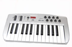 Mini midi keyboard controller Royalty Free Stock Image