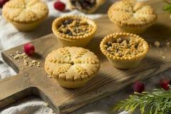 Mini Mincemeat Pies casalingo fotografia stock libera da diritti