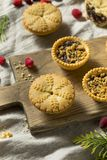Mini Mincemeat Pies casalingo immagini stock libere da diritti