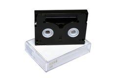 Mini-mini-dv cassettes Royalty-vrije Stock Foto
