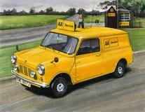 Mini Minivan Automobile Association (AA). Illustration of a Mini Minivan Automobile Association (AA Stock Photos