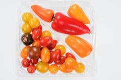 Mini miscela di verdure con i peperoni ed i pomodori Immagini Stock Libere da Diritti